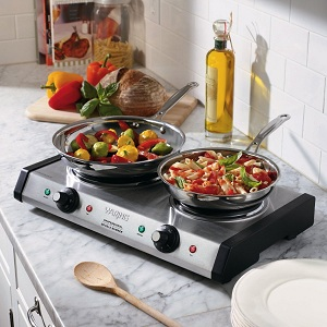 Waring DB60 Portable Double Burner Cooktop